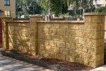 Забор из декоративных блоков и его характеристика
