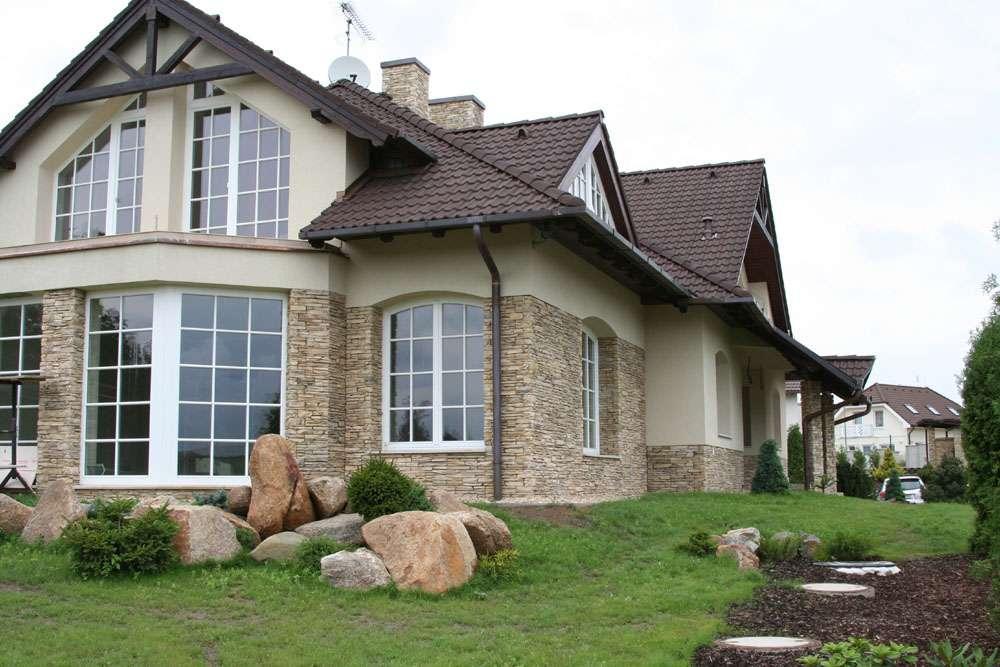 Дома отделанные камнем фото